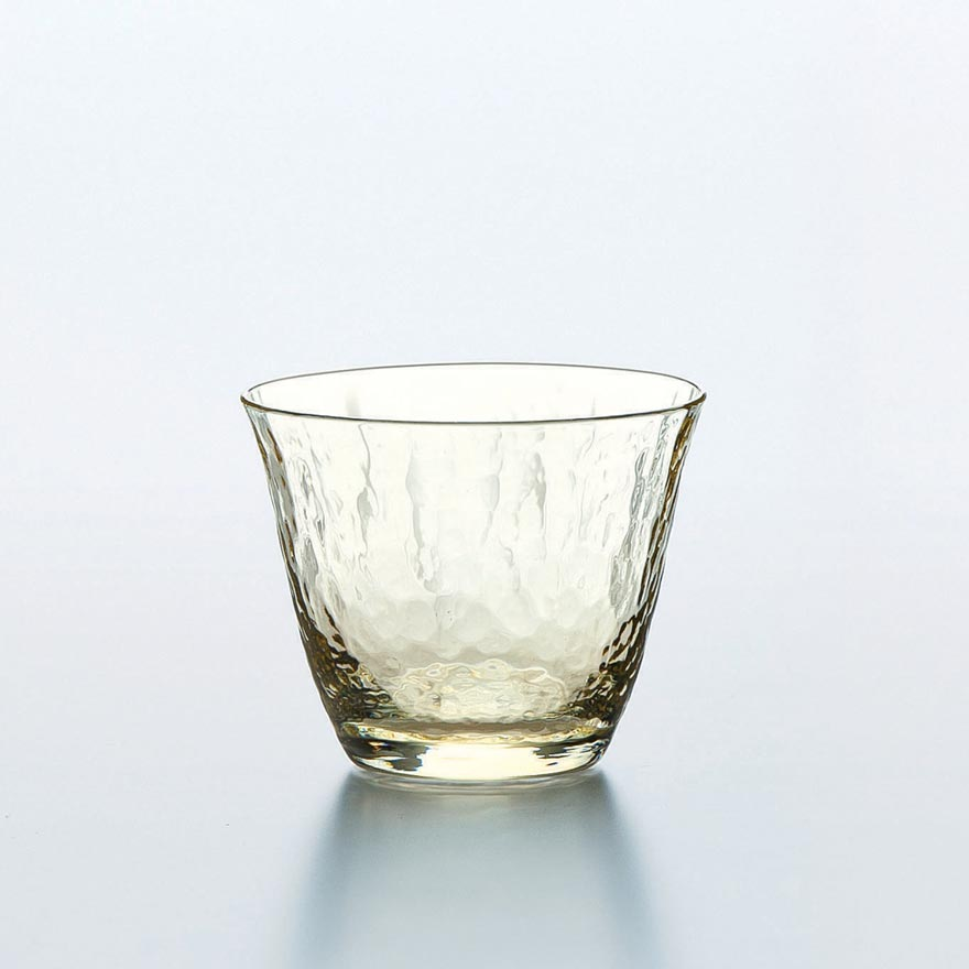 Handmade Crystal Sake Glass - Yellow 80ml