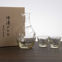 Handmade Crystal Sake Set - Yellow 300ml