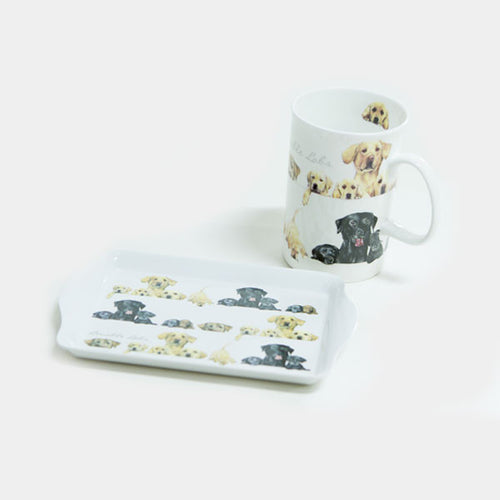 Ashdene - Bone China Mug & Melamine Snack Tray