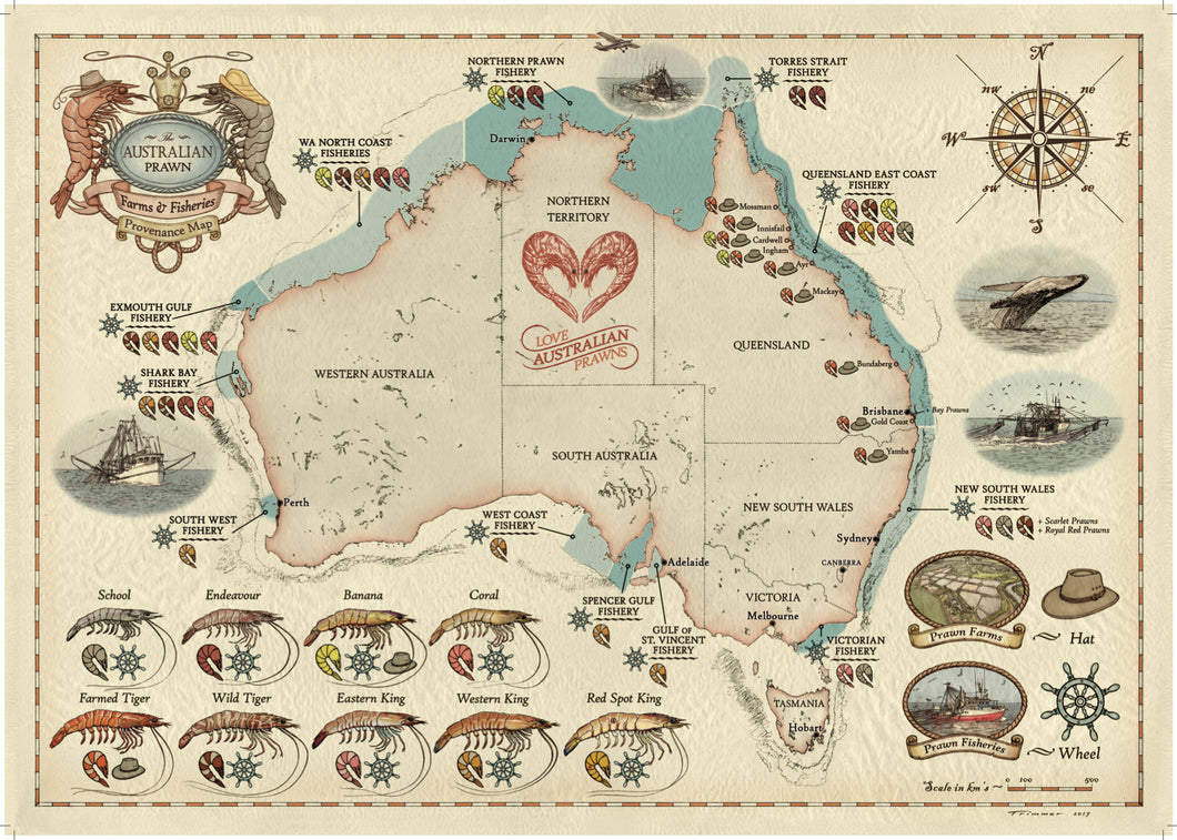 Hand Illustrated Provenance Map
