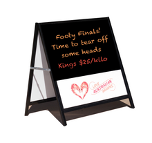A-Frame sign and core flute chalkboard bundle.