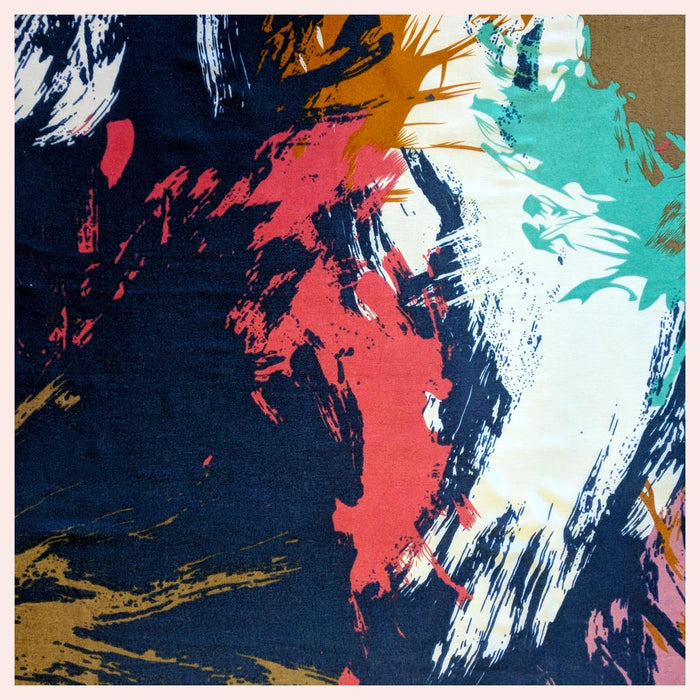 Cotton Blend Designer Scarf with Fabulous Splashes of Vibrant Colour 90 x 180 CM