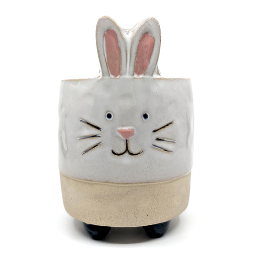 Bunny with Legs Sand Ceramic Planter