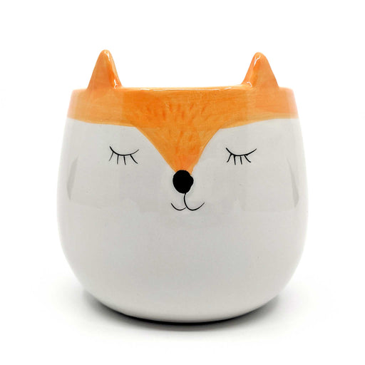 Fox Orange Ceramic Planter