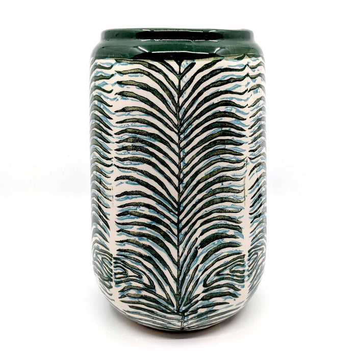 Green Palm Ceramic Vase Large
