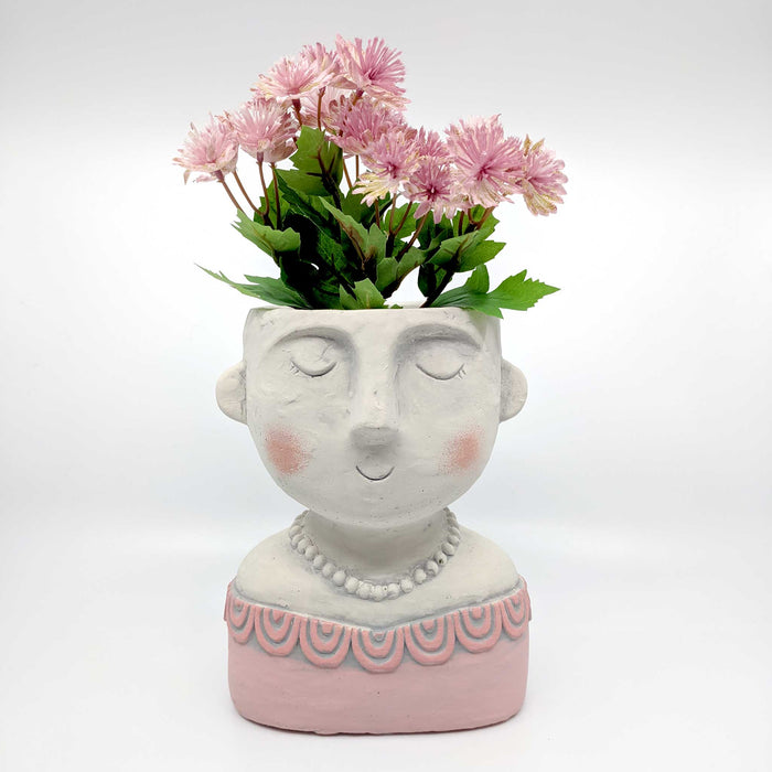 Lady Coral Concrete Planter