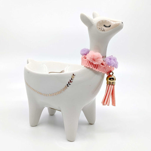 Llama with Tassel Ceramic Trinket Dish