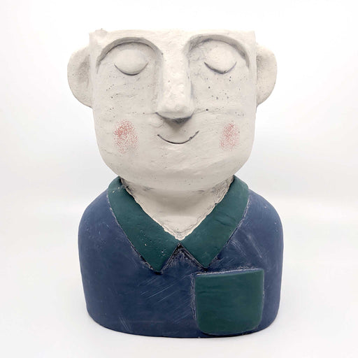 Gentleman Blue Concrete Planter
