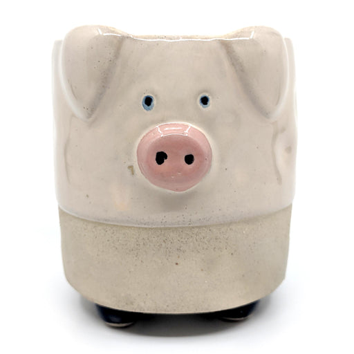 Pig with Legs Sand Ceramic Planter