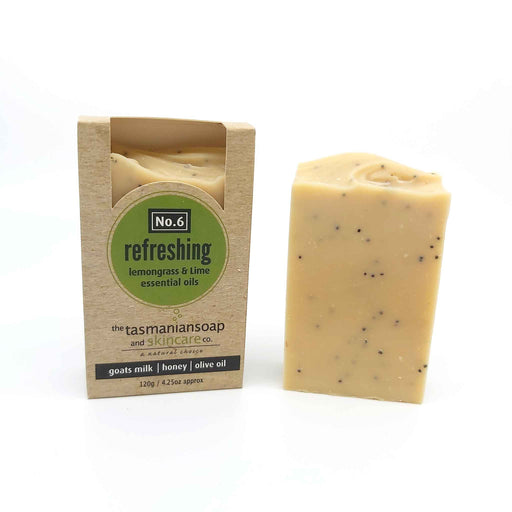 Refreshing - Natural Soap with Goats Milk, Lemongrass & Lime Essential Oils