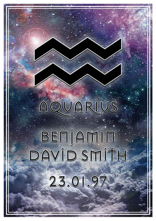 Aquarius Art Print (Personalised!)
