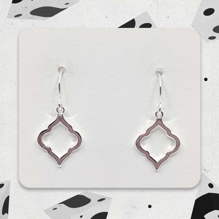 Silver Designer Boho Charm Earrings