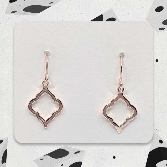 Rose Gold Designer Boho Charm Earrings