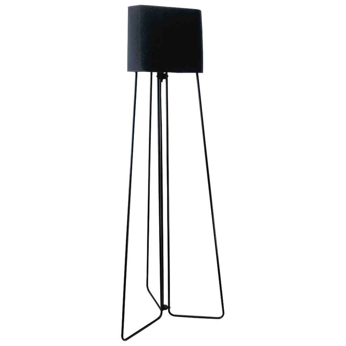 DOMINIC FLOOR LAMP 168cm Tall Black Powder Coated Metal Base / Triangular Shade