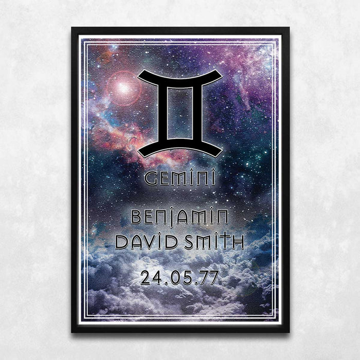 Gemini Art Print (Personalised!)