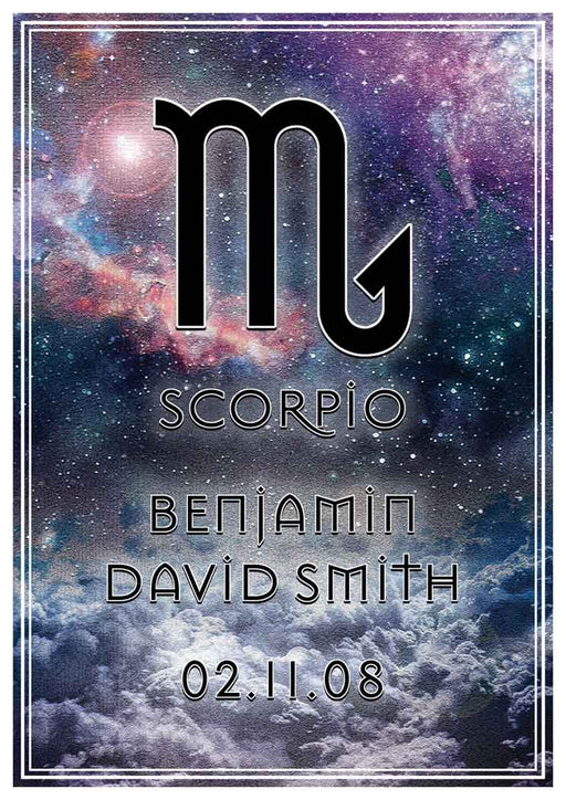 Scorpio Art Print (Personalised!)