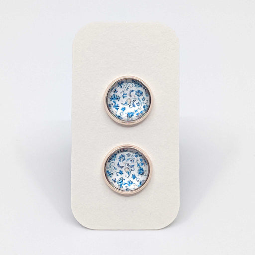 Light Floral Designer Stud Earrings with 925 Silver Posts