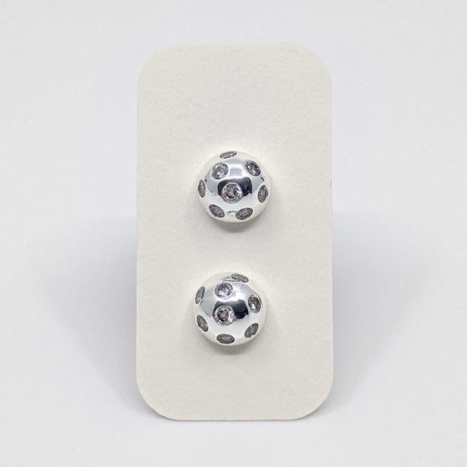 Silver Ball Stud Earrings with 925 Silver Posts