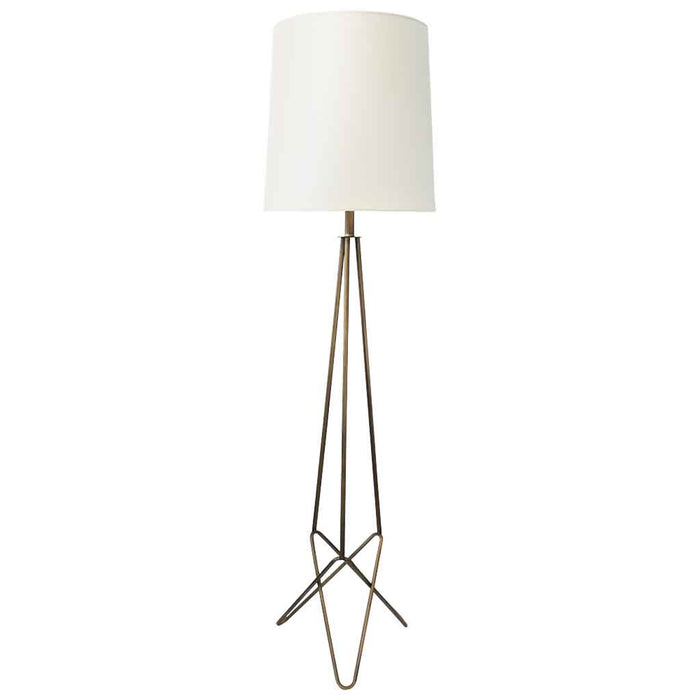 TRINITY FLOOR LAMP 142.5cm Bronze Metal Base / Oversize White Linen Shade