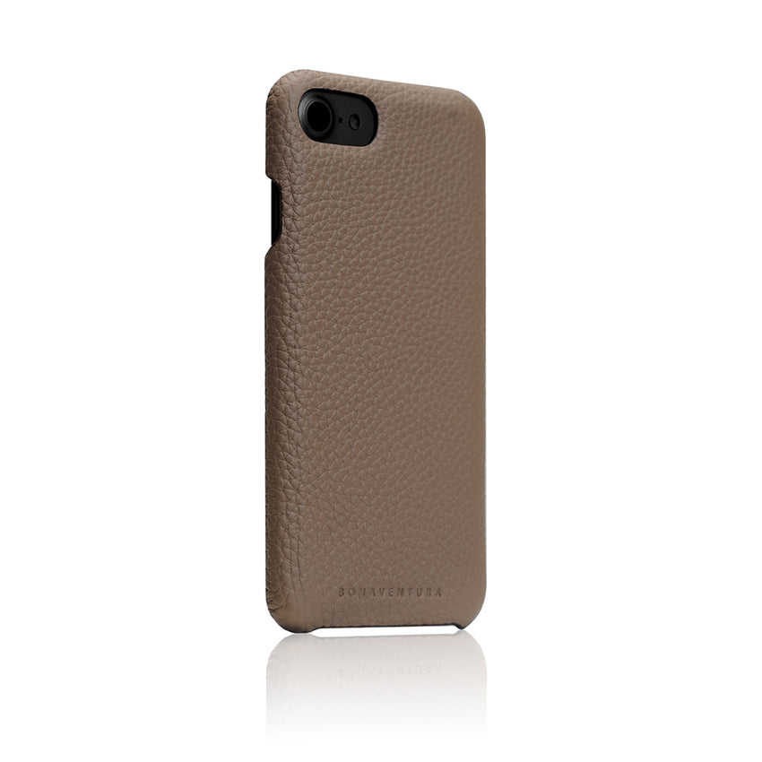 promo code 6b60e 13a69 German Shrunken Calf Leather Back Case for iPhone 8 / 7 Taupe