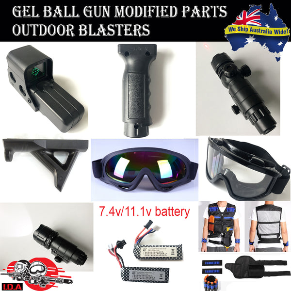 gel ball blasters and accessories, tactical backpack, vest