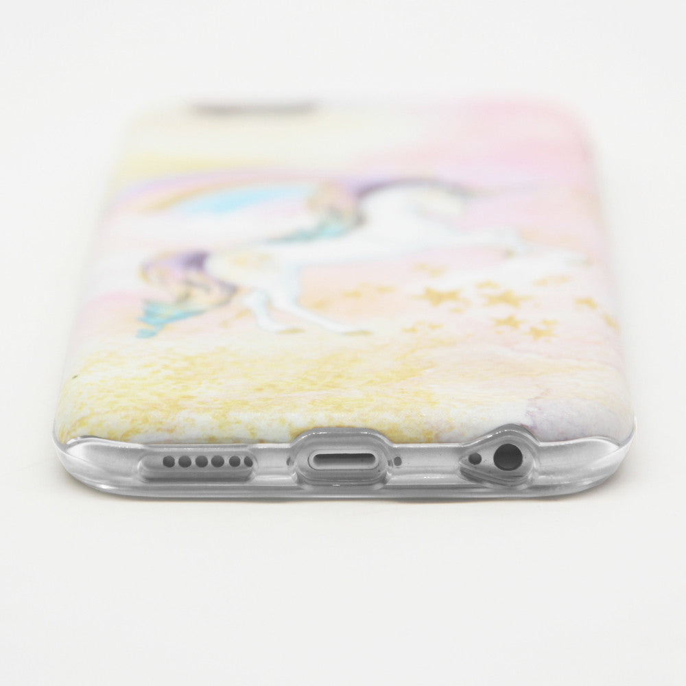 detailed look 45d3b 0fcb4 iPhone 6/6S Plus Case (5.5 inch) Obbii Unique Unicorn Cloud Design Hybrid  Slim Hard Shell+ Inner TPU Protective Durable Cover Case Built-in Clear ...