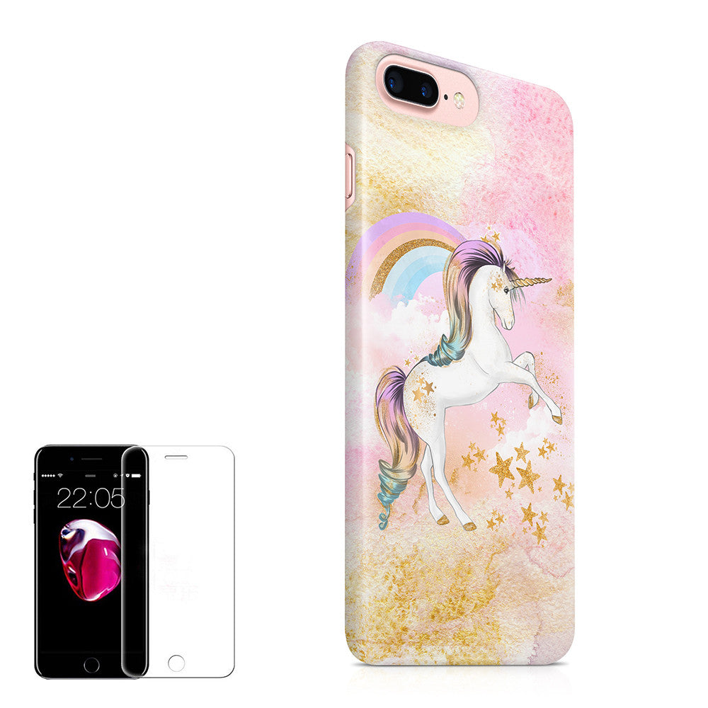 timeless design 70c74 79d07 iPhone 7 Plus Case (5.5 inch) Obbii Unique Unicorn Cloud Design Hybrid Slim  Hard Shell+ Inner TPU Protective Durable Cover Case Built-in Clear Screen  ...