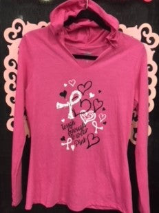 Ladies Long Sleeve Hooded Tee