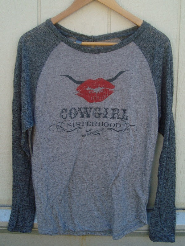 Cowgirl Sisterhood Long Sleeve Burnout Tee