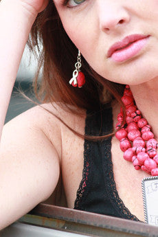 Pink Turquoise Earring