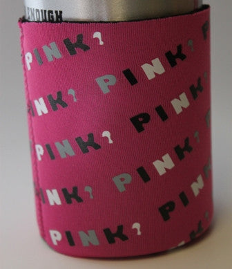 PINK Text Koozie