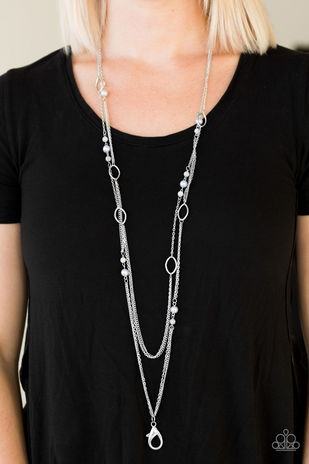 The New Girl In Town - Silver Lanyard (8833)