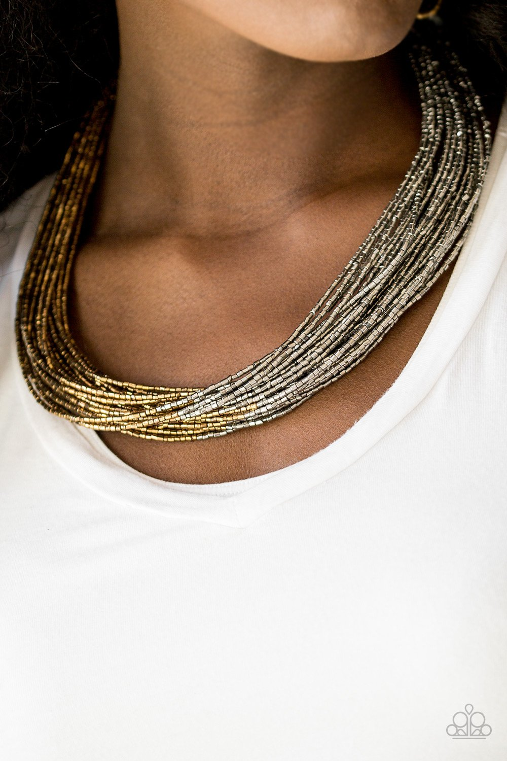 FLASHY FASHION - SILVER/BRASS
