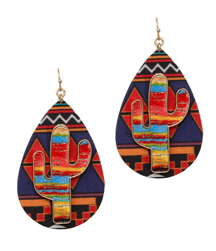 AZTEC TEARDROPS - ORANGE (5819)