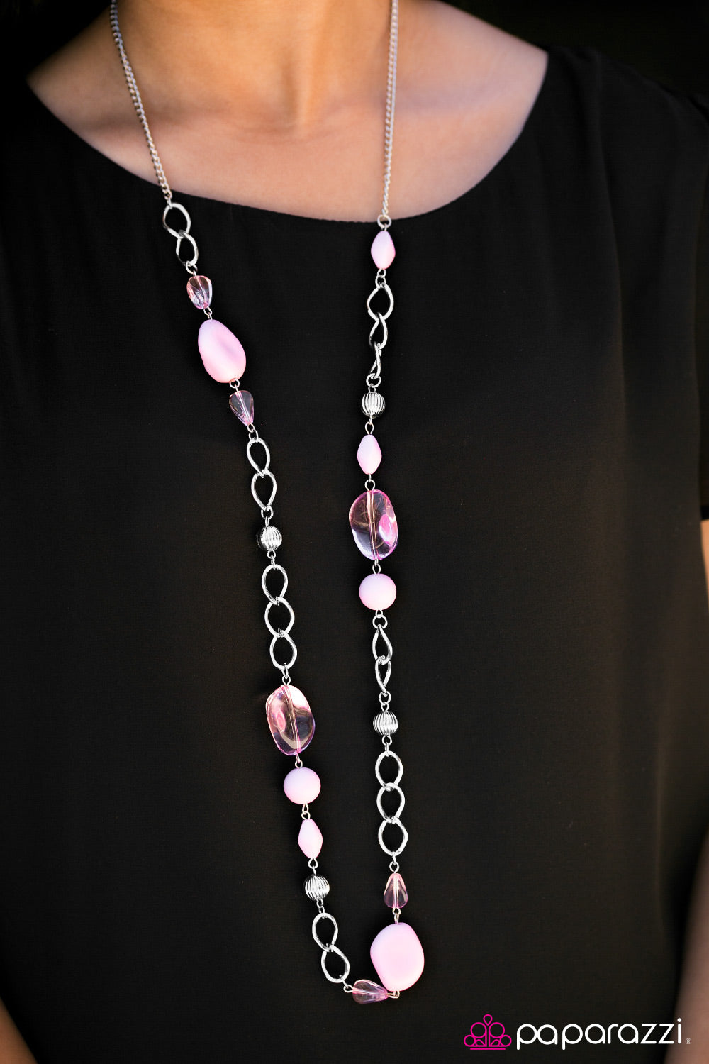 GLASSical MUSIC - PINK NECKLACE (8022)