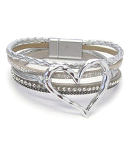 HEART AND SPARKLE - SILVER (4423)