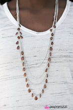 SUMMER SHOWERS BROWN NECKLACE (8505)
