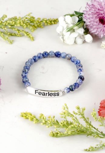 LAPIS (ROUND) INSPIRATIONAL- Fearless