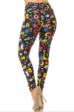 Buttery Soft Animal Letters Leggings - Teacher