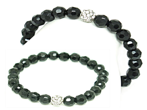 FASHION STRETCH BRACELET - BLACK