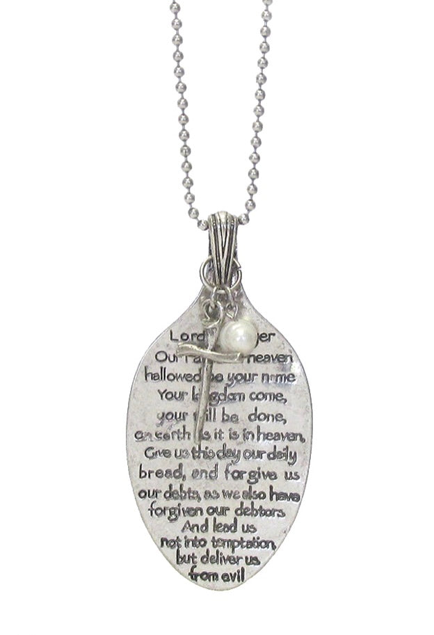 LORD'S PRAYER SPOON NECKLACE