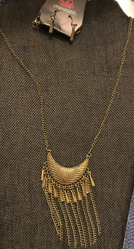 BRASS NECKLACE - LONG