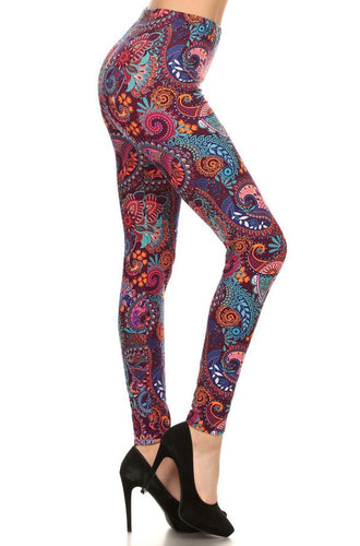 Buttery Soft Candyland Paisley Leggings