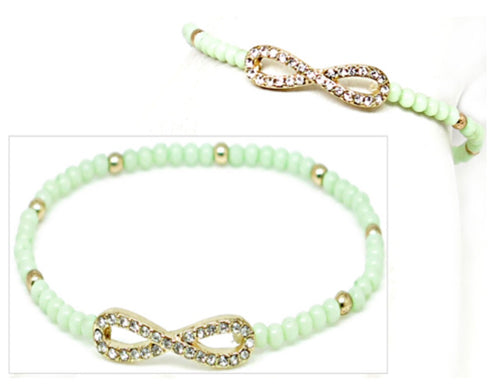 FASHION STRETCH BRACELET - GREEN