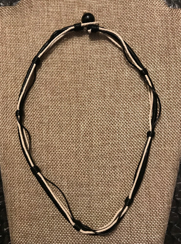 MEN'S NECKLACE - BLACK (1115)