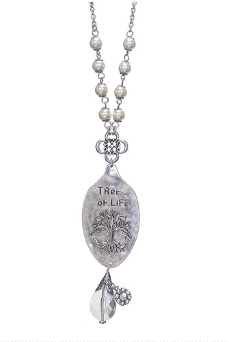 SPOON NECKLACE - TREE OF LIFE