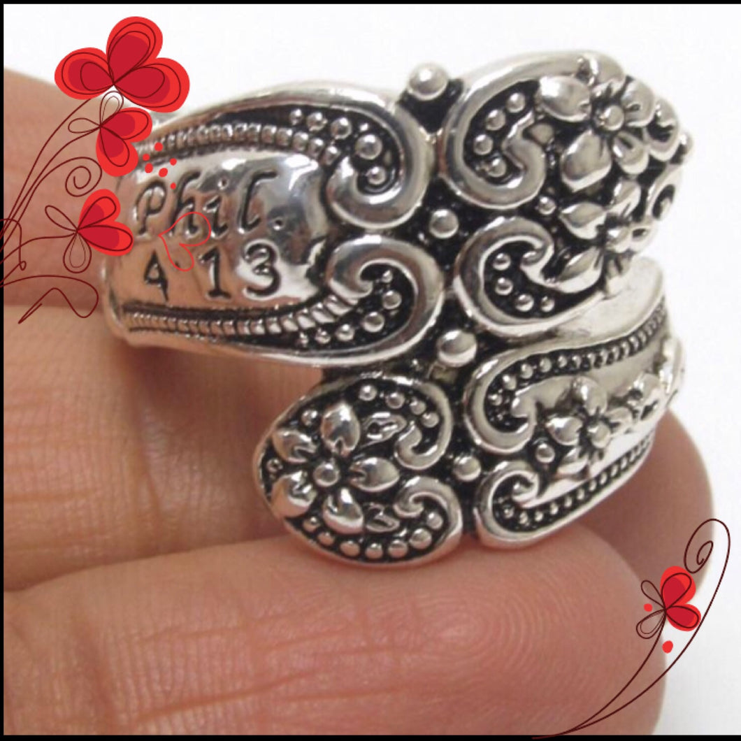 FLOWER GARDEN SPOON RING (2192)