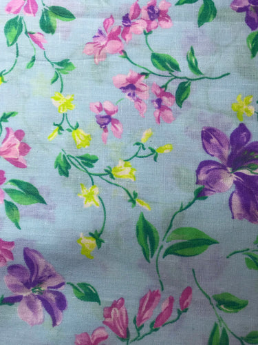 FLOWER FABRIC - COTTON (#4437)