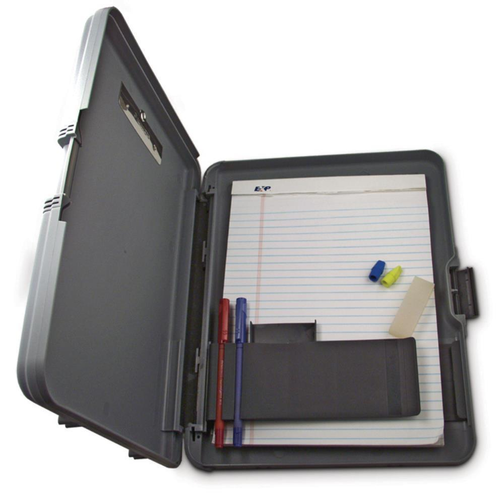 00470 Workmate; Gray/Charcoal Polypropylene Form holder Clipboard; Side Opening; A4 Saunders-Normal-Prospectors
