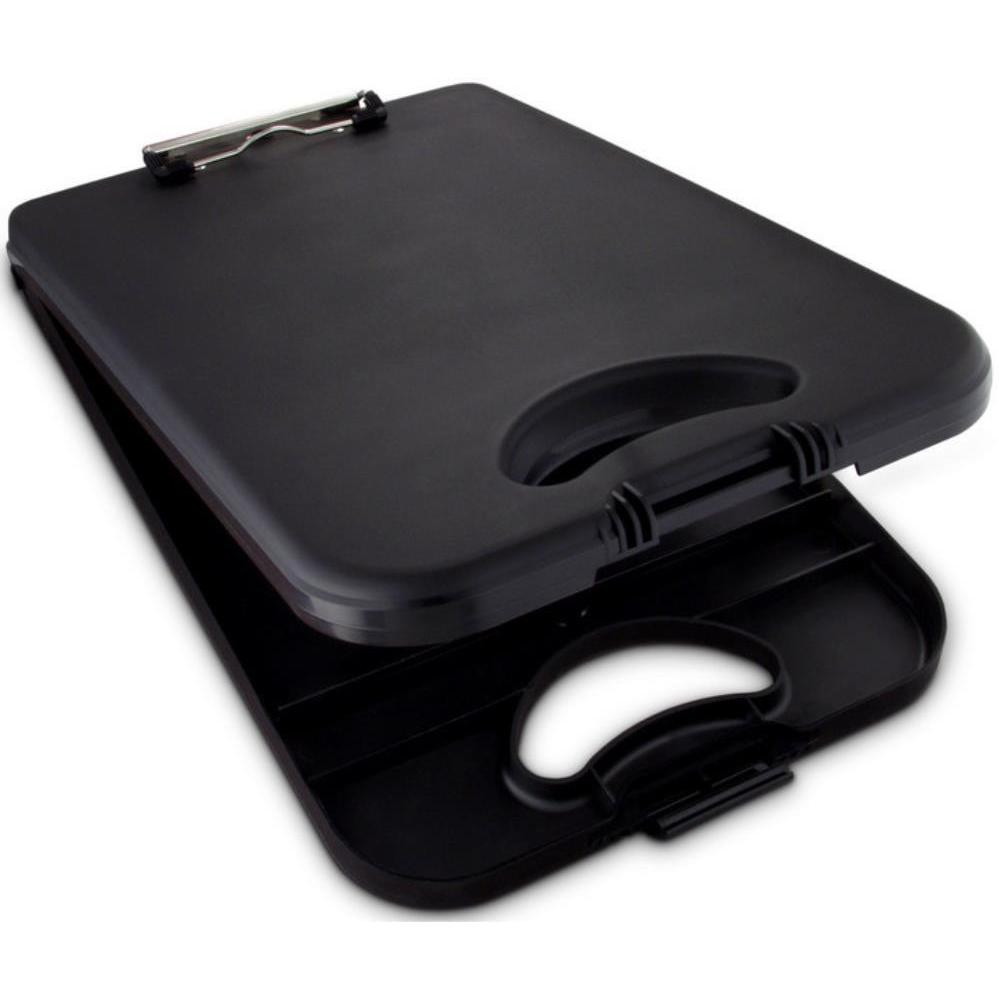 00533 Deskmate II; Black Polypropylene Form Holder Clipboard; Bottom Opening; A4 Saunders